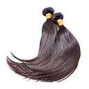 preiswerte Badarmaturen-1 Bündel Brasilianisches Haar Glatt / Klassisch Unbehandeltes Haar Menschenhaar spinnt Menschliches Haar Webarten Haarverlängerungen / Gerade