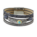 cheap Men's Bracelets-Women's Leather Bracelet - Friends Ladies Bracelet Jewelry Beige / Gray / Blue For Casual