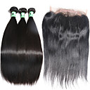 cheap One Pack Hair-Malaysian Hair Straight Human Hair Hair Weft with Closure Human Hair Weaves Human Hair Extensions