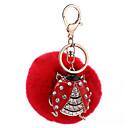 رخيصةأون سلسلة المفتاح-مفتاح سلسلة مفتاح سلسلة قطيفة / معدن 1 pcs قطع فتيات هدية