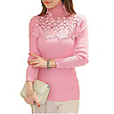 cheap Ballroom Dance Wear-Women's Long Sleeves Slim Pullover - Solid, Lace Beaded Cut Out Turtleneck