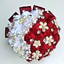 """olcso Esküvői virágok-Esküvői virágok Csokrok / Egyedi esküvői dekor Különleges alkalom / Party / estély Gyöngy / Strassz / Selyem 19,7"""" (Kb. 50 cm)"""