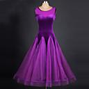 preiswerte Tanzkleidung für Balltänze-Für den Ballsaal Kleider Damen Leistung Chinlon / Organza Farbaufsatz Ärmellos Normal Kleid