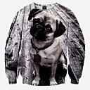 お買い得  人工毛キャップレスウィッグ-男性用 スポーツ クラブ 活発的 パンク&ゴシック スウェットシャツ - 3D印刷, 特大の ラウンドネック