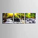 رخيصةأون مطبوعات-مناظر طبيعية الحديث, ثلاث لوحات كنفا مربع الطباعة جدار ديكور تصميم ديكور المنزل