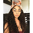 cheap Human Hair Wigs-Unprocessed Human Hair Glueless Lace Front Wig Brazilian Hair / Kinky Curly 130% Density Natural Hairline Women's Long Human Hair Lace Wig