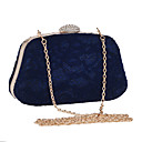 cheap Clutches & Evening Bags-Women's Bags Polyester Evening Bag Lace Black / Blue / Almond