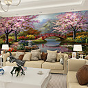 cheap Wall Murals-Mural Canvas Wall Covering - Adhesive required Art Deco / 3D