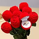 baratos Flor artificiali-caixa do anel da jóia da rosa do vermelho anel de noivado do casamento para amantes caixa de presente do Valentim