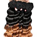 cheap Ombre Hair Weaves-Brazilian Hair Loose Wave Virgin Human Hair Natural Color Hair Weaves 3 Bundles 12-26 inch Human Hair Weaves Black / Medium Auburn Human Hair Extensions