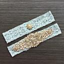 cheap Wedding Garters-Lace Classic Fashion Wedding Garter with Rhinestone Lace Garters