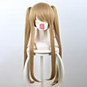 abordables Déguisements de Manga-Perruque Synthétique Droit Style Sans bonnet Perruque Blond Blond de fraise Cheveux Synthétiques Femme Blond Perruque Court / Moyen / Long Perruque de Cosplay