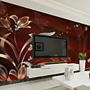 billige Vegglamper-Blomster Art Deco 3D Tapet til Hjemmet Moderne Tapetsering , Lerret Materiale selvklebende nødvendig Veggmaleri , Tapet
