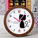 abordables Relojes Alarma-relojes de silencio creativo precioso despertador del escritorio del escritorio del reloj del gato reloj de mesa en casa creativa de la