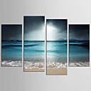 cheap Prints-Landscape Fantasy Modern Realism, Four Panels Canvas Any Shape Print Wall Decor Home Decoration