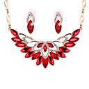 preiswerte Parykopfbedeckungen-Damen Kristall Schmuck-Set - Krystall Einschließen Rot / Transparent / Champagner Für Hochzeit Party / Halsketten