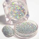 cheap Nail Glitter-2g box holographic silver laser nail glitter powder gorgeous shiny dust powder manicure nail art glitter decoration