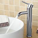 preiswerte Backformen-Waschbecken Wasserhahn - Verbreitete Chrom Mittellage Einhand Ein LochBath Taps