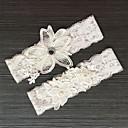 billige Bryllupsstrømpebånd-Blondelukning Klassisk Mode Bryllup Garter  -  Bjergkrystal Blonde Strømpebånd