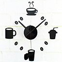 cheap Wall Stickers-Modern/Contemporary Retro Acrylic Metal Round Novelty Indoor/Outdoor,AA Wall Clock