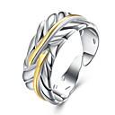 preiswerte Moderinge-Damen Ring - Kupfer Blattform Grundlegend Verstellbar Gold Für Party Büro / Geschäftlich Alltag