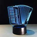 זול תאורה מודרנית-יחידה 1 אור תלת ממדי גודל קומפקטי / החלפת צבעים אומנותי / מודרני / עכשווי