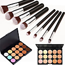 cheap Necklaces-15 Concealer/Contour+Concealer Makeup Brushes Wet Face Body Whitening Fast Dry Coverage Oil-control Long Lasting Concealer Uneven Skin