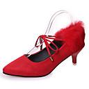 abordables Sandalias de Mujer-Mujer Zapatos PU Otoño / Invierno Confort Tacones Tacón Bajo Dedo redondo Con Cordón Negro / Rojo / Verde