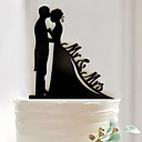 cheap Cake Toppers-Birthday / Valentine's Day / Wedding Party Acrylic Mixed Material Wedding Decorations Classic Theme Winter Spring Summer Fall All Seasons