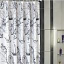 billige Dusjforheng-Dusjgardiner Neoklassisk polyester Blomster / botanikk Maskinprodusert