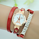 cheap Car Fog Lights-Women's Bracelet Watch Quartz Imitation Diamond Leather Band Analog Eiffel Tower Fashion Simulated Diamond Watch Black / White / Red - Red Green Jade One Year Battery Life / Tianqiu 377