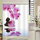 رخيصةأون ملصقات الحائط-ستائر الدش الكلاسيكية الحديثة البوليستر الأزهار / النباتية مصنوع بالماكينة