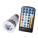 abordables Accesorios de Baño-KWB 4W 450lm E26 / E27 Focos LED MR16 1 Cuentas LED COB Regulable Impermeable Decorativa Control Remoto RGB 85-265V