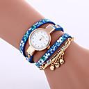 baratos Acessórios & Instrumentos-Mulheres Bracele Relógio Relógio Casual Couro Banda Fashion / Elegante Preta / Azul / Cinza / Um ano / Tianqiu 377