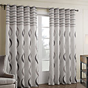 cheap Curtains Drapes-Rod Pocket Grommet Top Tab Top Double Pleat Two Panels Curtain Baroque , Print Bedroom Polyester Material Curtains Drapes Home Decoration