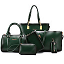 preiswerte Taschensets-Damen Taschen PU Bag Set 6 Stück Geldbörse Set Niete Braun / Grün / Wein / Beutel Sets