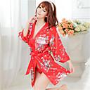 お買い得  バスローブ & ナイトウェア-女性用 クリスマス プラスサイズ スカート - プリント レッド XL XXL XXXL / セクシー