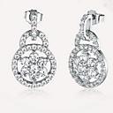 cheap Earrings-Stud Earrings Sterling Silver Zircon Cubic Zirconia Earrings European Fashion Jewelry Silver For Daily Casual