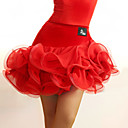 abordables Ropa para Baile Latino-Baile Latino Tutús y Faldas Mujer Rendimiento Tul / Terciopelo Fruncido Cintura Media Falda