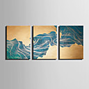 baratos Impressões-Abstrato Fantasia Modern, 3 Painéis Tela de pintura Vertical Estampado Decoração de Parede Decoração para casa