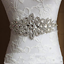 cheap Party Sashes-Satin Wedding / Party / Evening / Dailywear Sash With Rhinestone / Crystal Women's Sashes