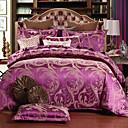 cheap Floral Duvet Covers-Duvet Cover Sets Floral Silk / Cotton Blend Jacquard 4 PieceBedding Sets / 500 / 4pcs (1 Duvet Cover, 1 Flat Sheet, 2 Shams)