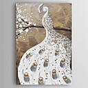 tanie Obrazy olejne-Hang-Malowane obraz olejny Ręcznie malowane - Pop art Nowoczesny Naciągnięte płótka / Rozciągnięte płótno