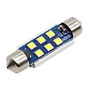 baratos Luzes de Interior para Carros-SO.K 4pçs T11 / 42mm Carro Lâmpadas 3 W SMD 5730 400 lm LED Iluminação interior