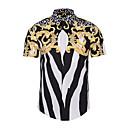 رخيصةأون أغطية مخدات-للرجال قميص هندسي, طباعة ياقة مفرودة ضعيف / كم قصير