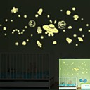 preiswerte LED Glühbirnen-Dekorative Wand Sticker - Leuchtende Wand Sticker Landschaft Stillleben Romantik Wohnzimmer Schlafzimmer Studierzimmer / Büro