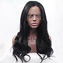preiswerte Synthetische Perücken mit Spitze-Synthetische Lace Front Perücken Große Wellen Synthetische Haare Natürlicher Haaransatz Schwarz Perücke Damen Spitzenfront Natürlich Schwarz