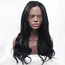 abordables Fundas de Edredón Lujosas-Peluca Lace Front Sintéticas Ondulado Grande Pelo sintético Entradas Naturales Negro Peluca Mujer Encaje Frontal