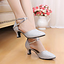 cheap Modern Shoes-Women's Latin Shoes Sparkling Glitter / Paillette Sandal Sequin / Sparkling Glitter Stiletto Heel Non Customizable Dance Shoes Gold /