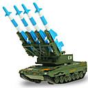 billige Toy Trucks & Construction Vehicles-Militærkjøretøy Tank Leketrucker og byggebiler Lekebiler Modellsett 01:50 Inntrekkbar Metallisk Plast ABS 1 pcs Gutt Jente Leketøy Gave